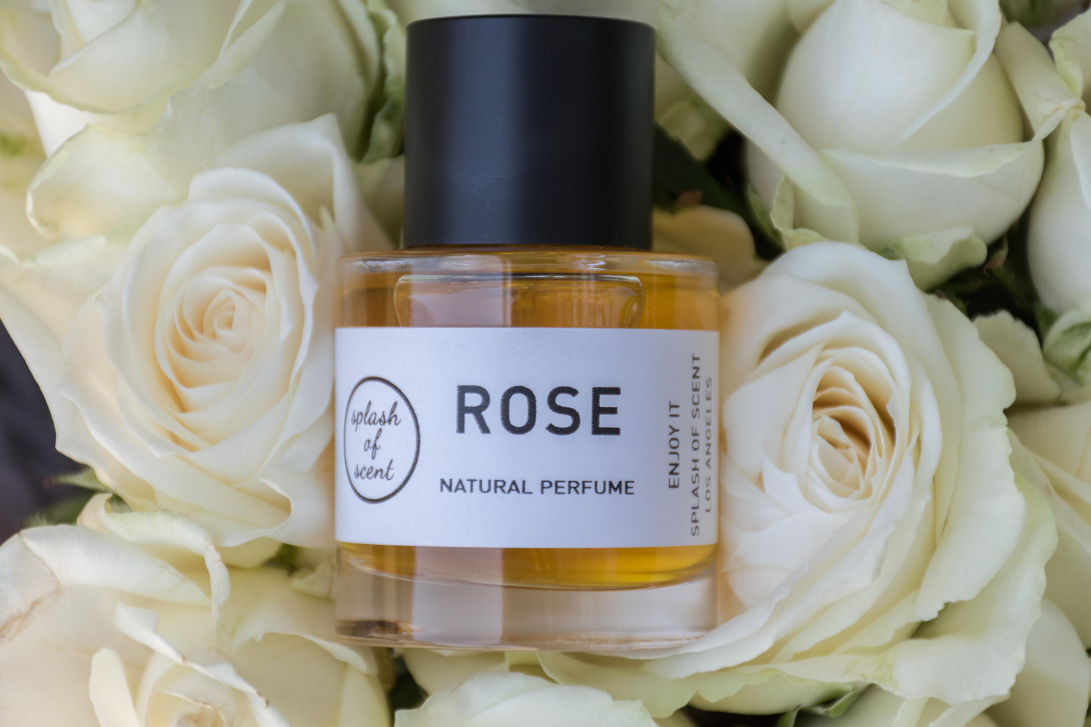 rose perfume in roses